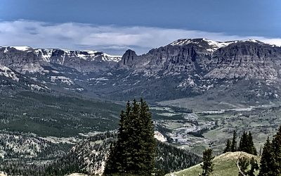 #Snapped: Snowy Mountains in a Wyoming Summer